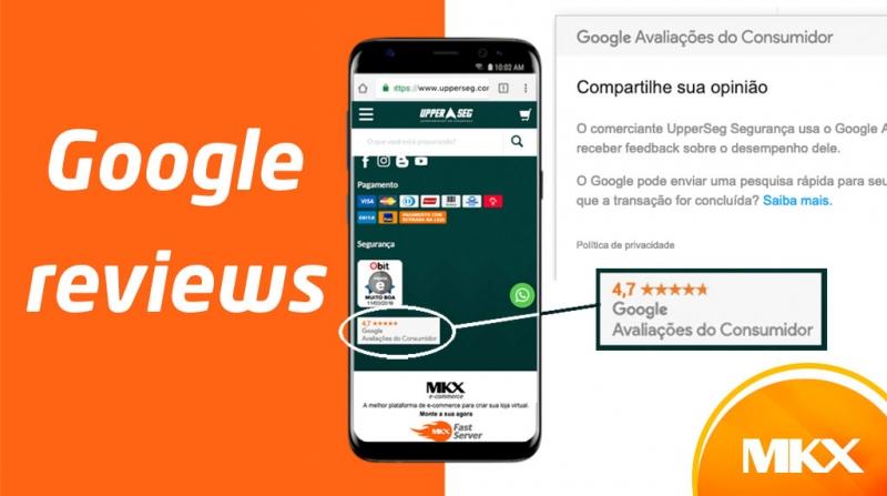 Incorpore as avaliações do Google em sua loja MKX